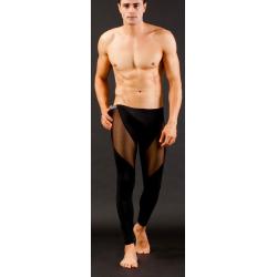 BRAVE PERSON pánské černé průhledné kalhoty Fluo