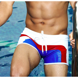 AQUX plavky boxerkové bílo-modro-červené