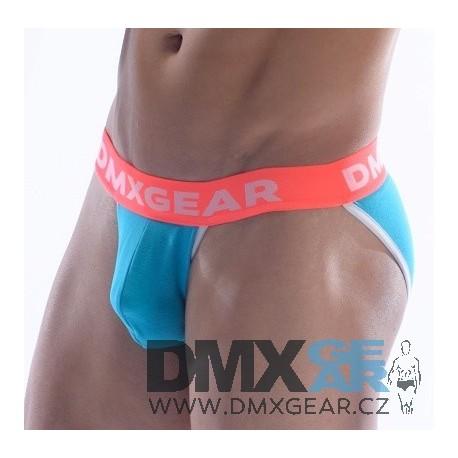 DMXGEAR pánské tyrkysové sportovní slipy Anatomically Fit Sport Brief