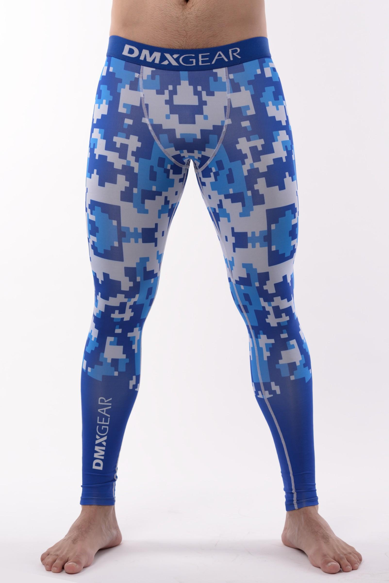 fd8ba76a1bb4 DMXGEAR pánské kompresní elasťáky PRO ATHLETE Multicolor Šedo-modré