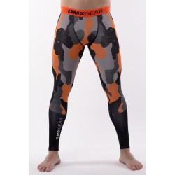 DMXGEAR pánské kompresní elasťáky PRO ATHLETE Multicolor Šedo-oranžové