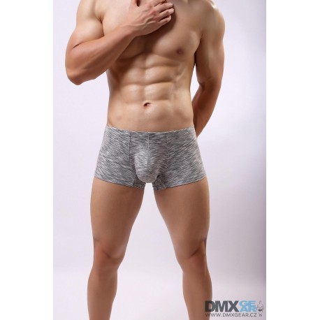 BRAVE PERSON pánské šedé žíhané boxerky
