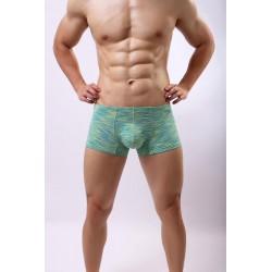 BRAVE PERSON pánské zelené žíhané boxerky