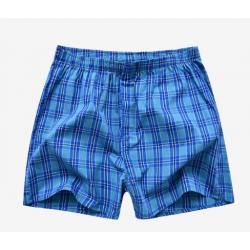 PINK HERO tyrkysovo-modré kostkaté volné trenýrky
