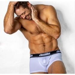 AUSSIEBUM pánské bílé děrované boxerky WJ Air Hipster