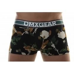 DMXGEAR pánské černo-oranžové boxerky s krátkou nohavičkou Flora Boxer