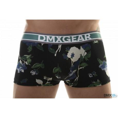 DMXGEAR pánské černo-modré boxerky s krátkou nohavičkou Flora Boxer