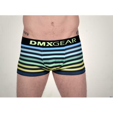 DMXGEAR pánské modro-zelené boxerky s krátkou nohavičkou FREEDOM Boxer