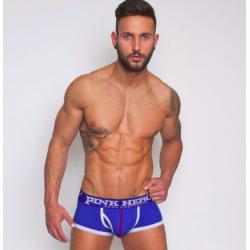 PINK HERO modré boxerky s modrou gumou
