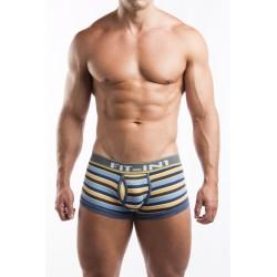 FIT-IN1 modro-žluto-šedé boxerky pánské pruhované