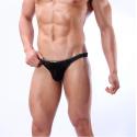 JQK černá sexy pánská tanga Fashion Thong