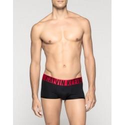 CALVIN KLEIN černé boxerky Power Red Trunk U8313A s delší nohavičkou