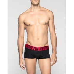 CALVIN KLEIN černé boxerky Power Red Trunk U8316A s kratší nohavičkou