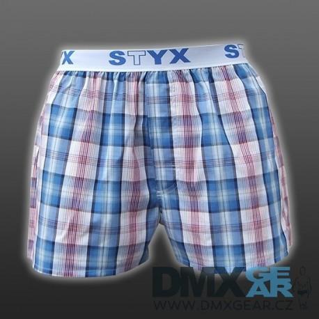 STYX UNDERWEAR bavlněné světle modré pánské trenýrky Sport B418 kostka Velikost L