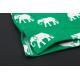 PINK HERO pánské zelené trenýrky s volnou nohavičkou Elephants Printing Boxer