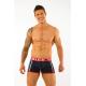 AWARE SOHO tmavě modré boxerky Sports Boxers 1421 s červenou gumou v pase