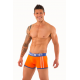 AWARE SOHO oranžové boxerky Sports Boxers 1421 s modrou gumou v pase