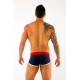 AWARE SOHO tmavě modré retro boxerky Hipster 102 s červenou gumou