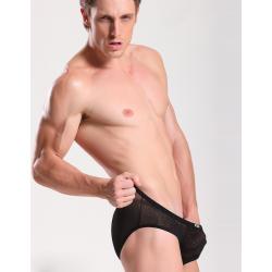 JQK černé slipy průhledné vzorované Fashion Pants
