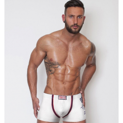 PINK HERO bílé pánské boxerky Printed Pure