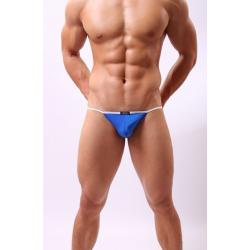 JJ SOX modrá pánská tanga Naked Stripe
