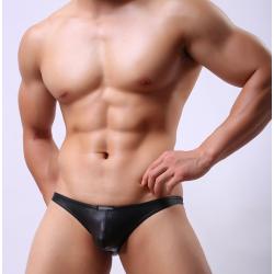 JJ SOX černé lesklé jockstrapy Shiny