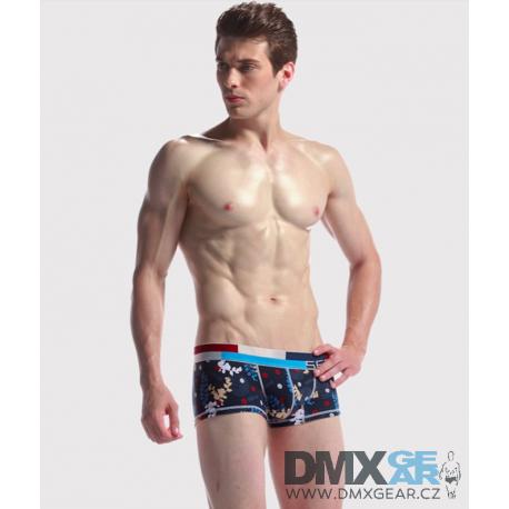 SEOBEAN tmavě modré pánské boxerky Fun