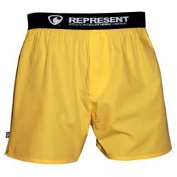 REPRESENT pánské bavlněné žluté trenýrky Mike Yellow