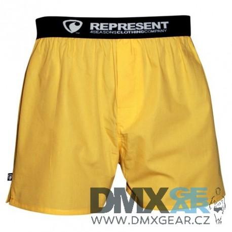 REPRESENT pánské bavlněné žluté trenýrky Mike Yellow Velikost M