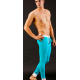 MIBOER modré tyrkysové pánské dlouhé kalhoty Body