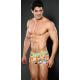 XUBA luxusní pánské oranžové boxerky Smile 205-21