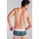 XUBA luxusní pánské zelené boxerky Stripe 228-18