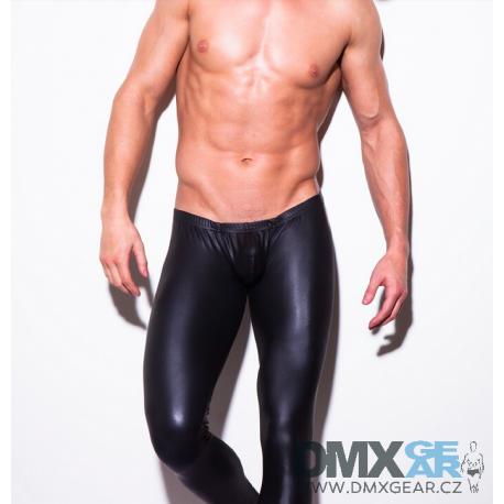 N2N BODYWEAR černé upnuté lesklé kalhoty Shinie Velikost S