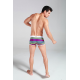 XUBA luxusní pánské pruhované boxerky Rainbow 1219-8