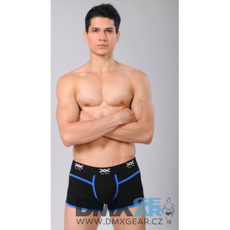 XUBA luxusní pánské černé boxerky Black-Blue 1201-7