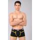 XUBA luxusní pánské černé boxerky Black-Orange 1201-7