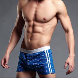 BRAVE PERSON pánské modré boxerky Printed Sail
