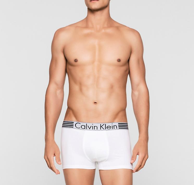 CALVIN KLEIN bílé pánské boxerky Iron Strength Cotton NB1071A