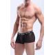 MANVIEW černé pánské průhledné boxerky Mesh Boxer