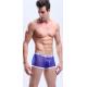MANVIEW modré pánské průhledné boxerky Mesh Boxer