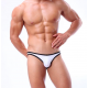 BRAVE PERSON pánské bílé bokové slipy i plavky současně Swim s bílým lemováním