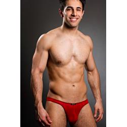 BODY ART červená průsvitná tanga Eros String