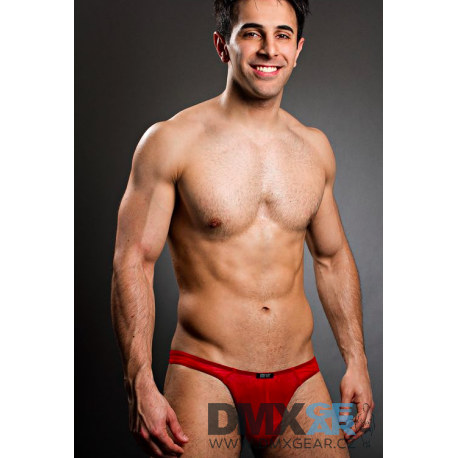 BODY ART červená průsvitná tanga Eros String Velikost M