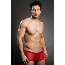 BODY ART červené průhledné boxerky Eros Micropants