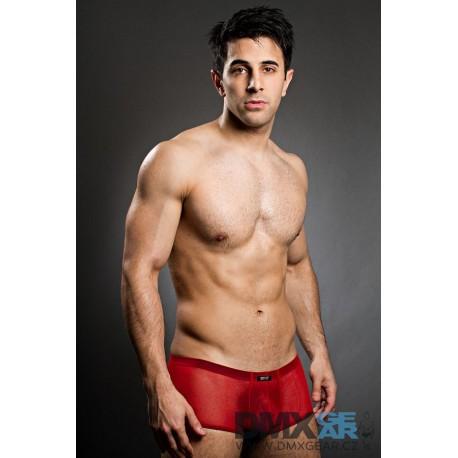 BODY ART červené průhledné boxerky Eros Micropants Velikost M