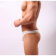 BANDI DAS pánská bílá průhledná tanga Ultra Thin White Thong