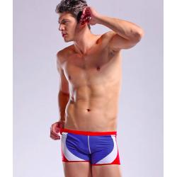 DESMIIT plavky červeno-modro-bílé boxerkové Sky