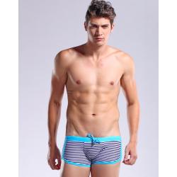 DESMIIT plavky modré pruhované boxerkové Sail