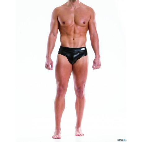 MODUS VIVENDI jocksy černé kožené Leather Bottomless 20514 Velikost S