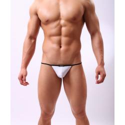 JJ SOX bílá pánská tanga Naked Stripe